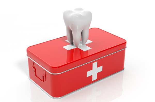 Rendering of a tooth on an emergency kit from Tigard Family Dental in Tigard, OR