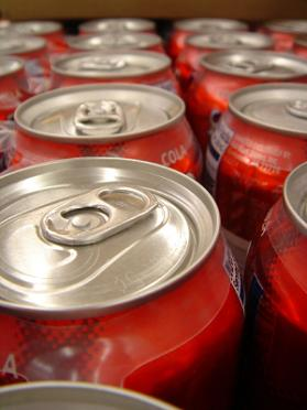 Photo of red soda can tops